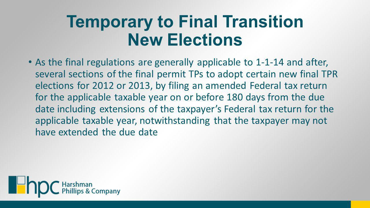 Temporary to Final Transition New Elections