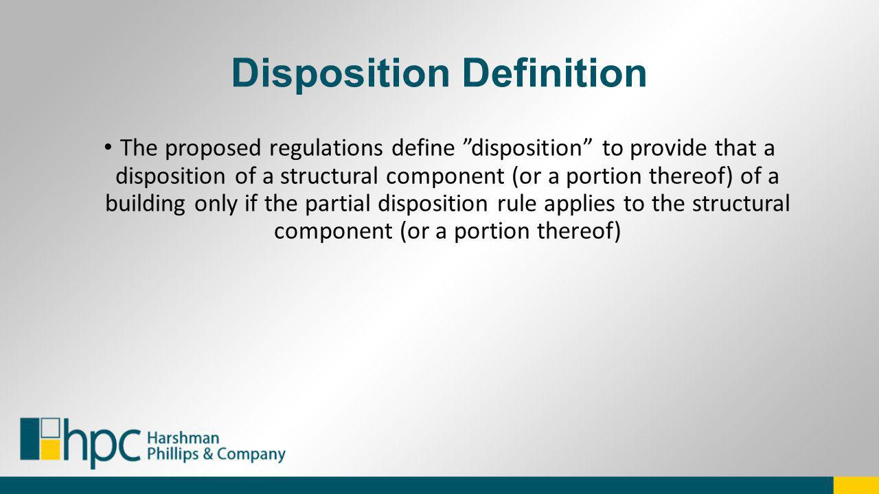 Disposition Definition