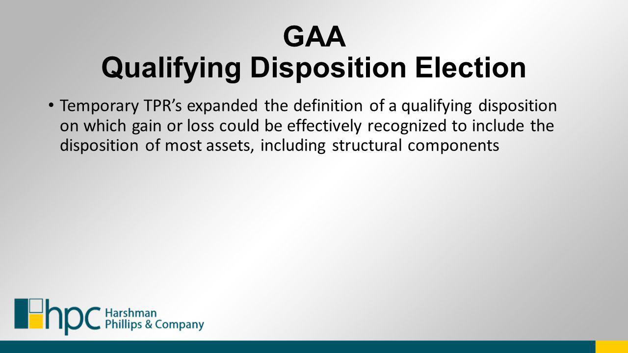 GAA Qualifying Disposition Election