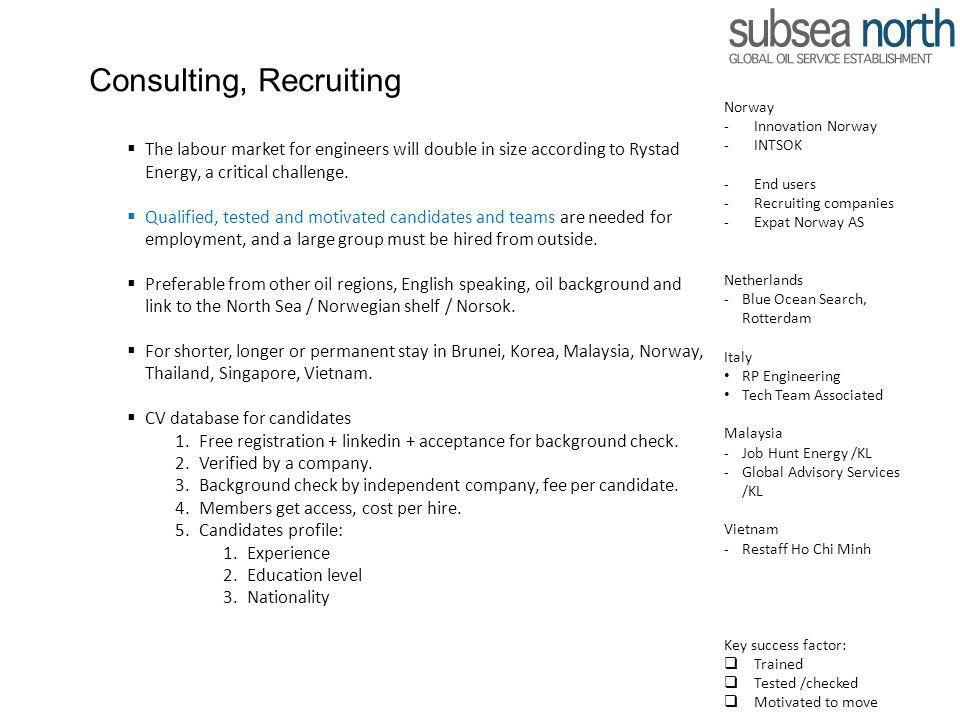 Consulting, Recruiting