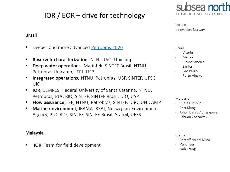 IOR / EOR – drive for technology