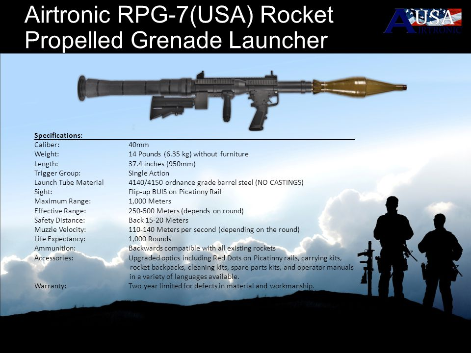 Airtronic RPG-7(USA) Rocket Propelled Grenade Launcher