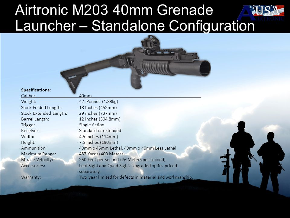 Airtronic M203 40mm Grenade Launcher – Standalone Configuration