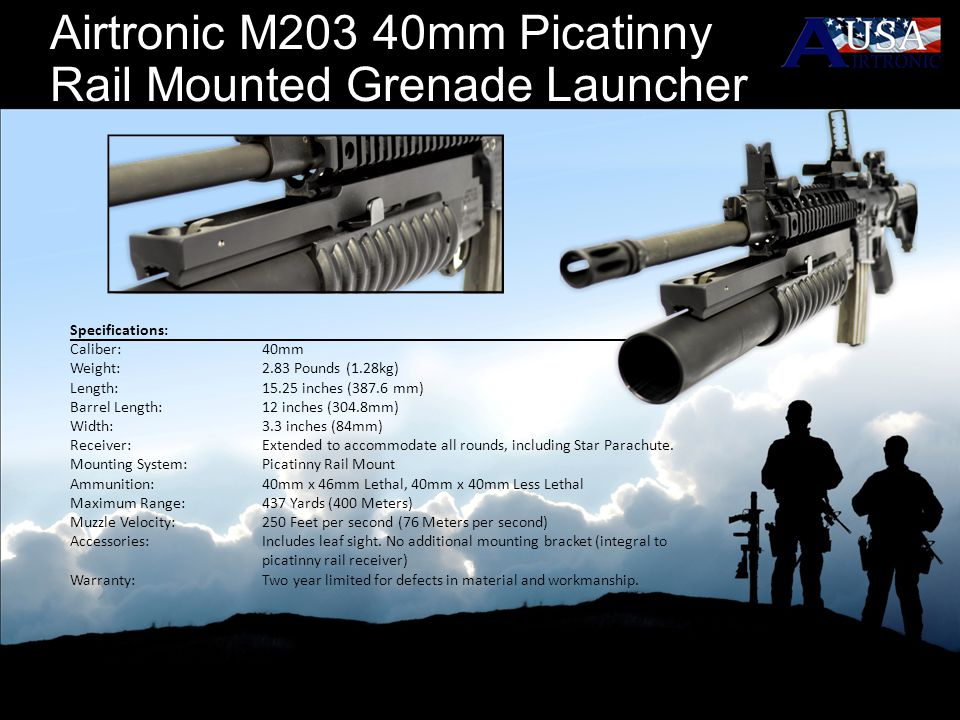 Airtronic M203 40mm Picatinny Rail Mounted Grenade Launcher