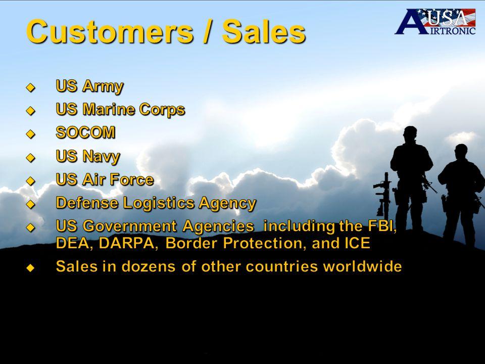 Customers / Sales US Army US Marine Corps SOCOM US Navy US Air Force
