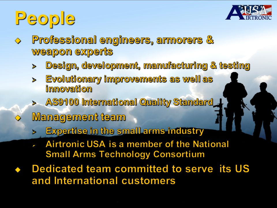 People Professional engineers, armorers & weapon experts