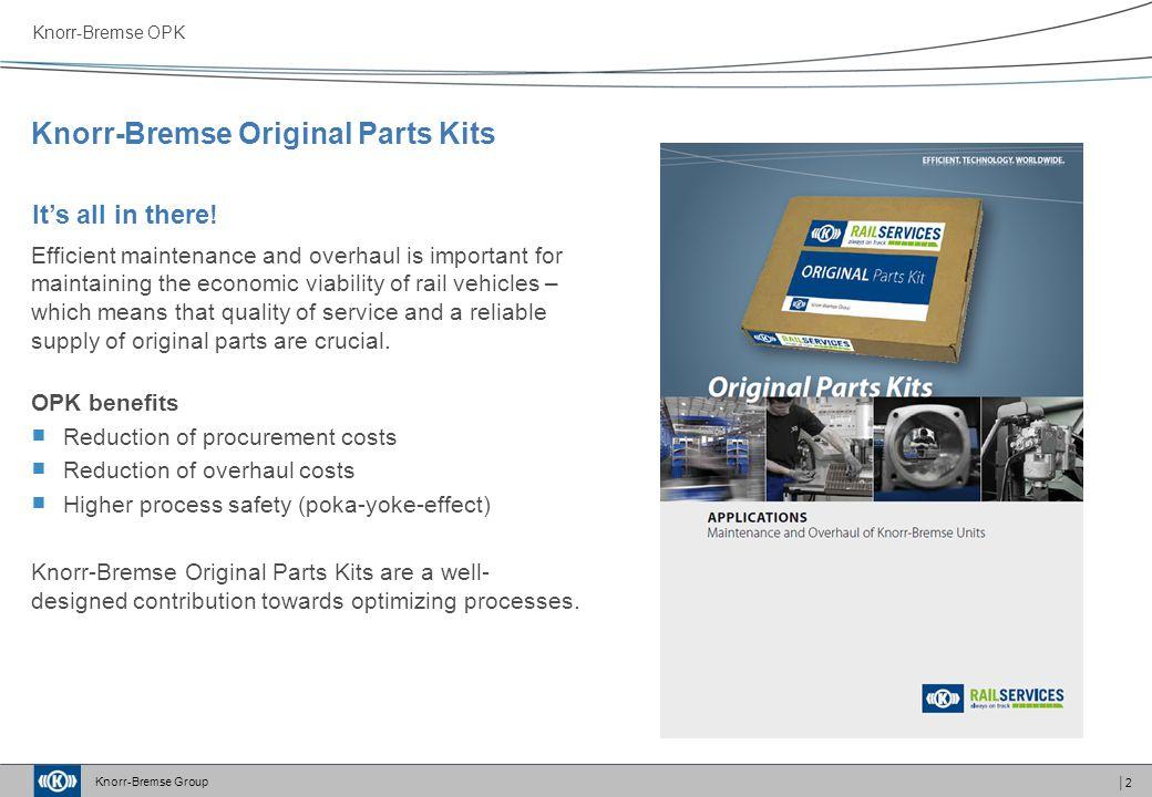 Knorr-Bremse Original Parts Kits