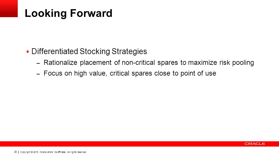 Looking Forward Differentiated Stocking Strategies