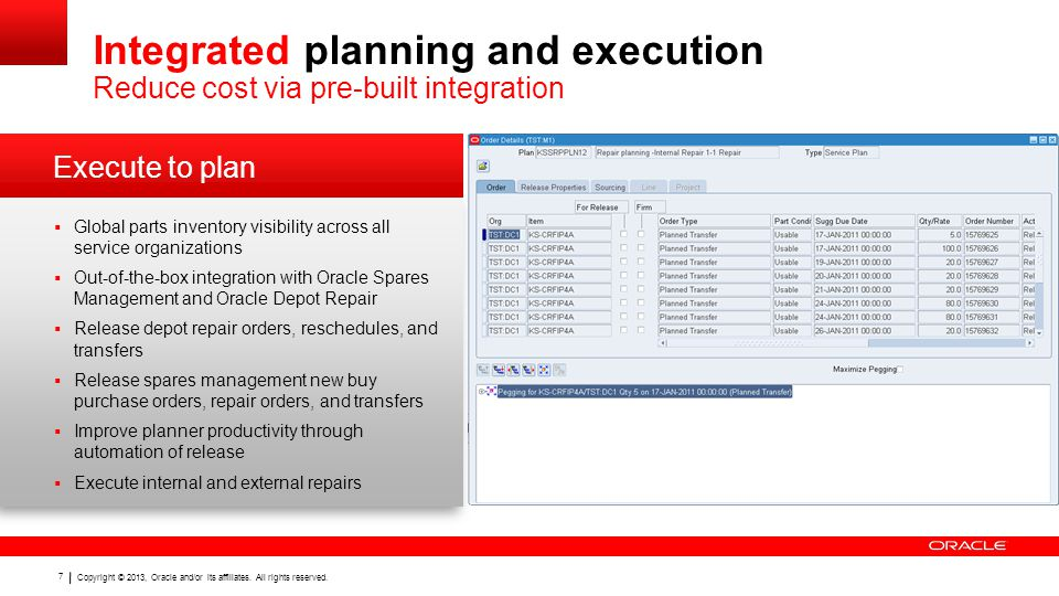 Integrated planning and execution