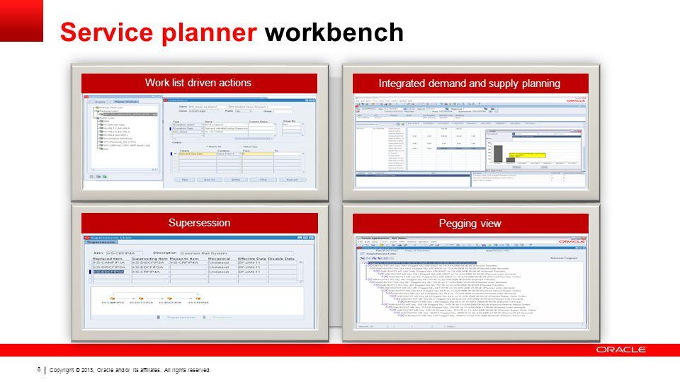 Service planner workbench