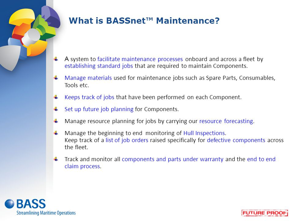 What is BASSnet™ Maintenance