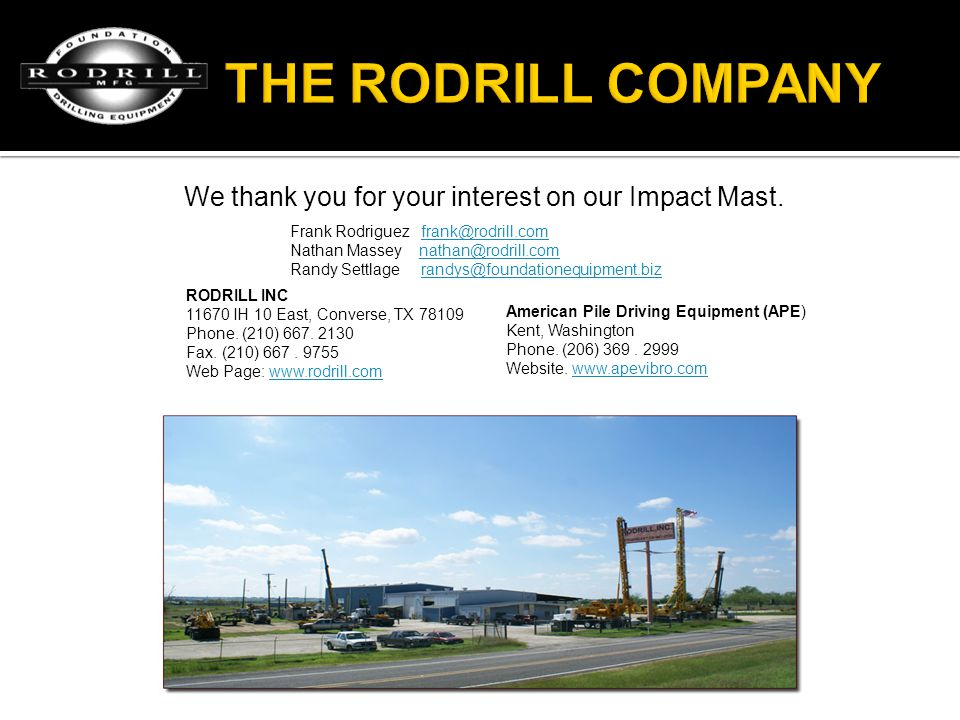 We thank you for your interest on our Impact Mast.