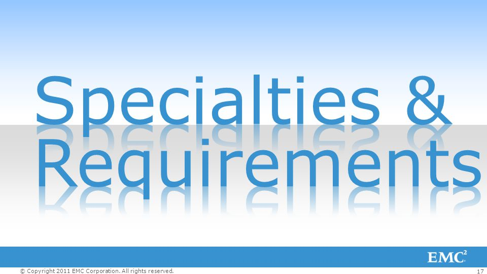 Specialties & Requirements