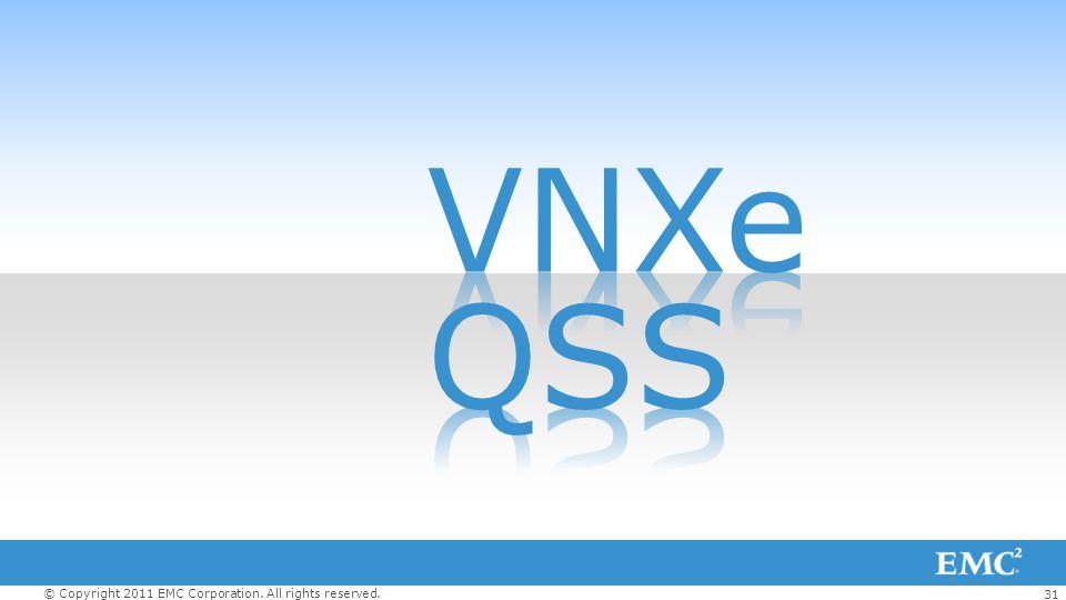 VNXe QSS