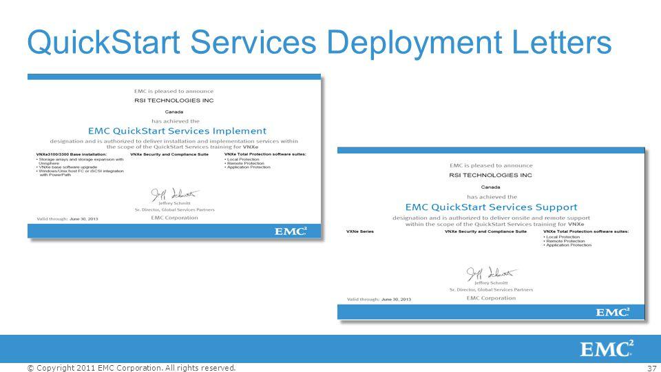 QuickStart Services Deployment Letters