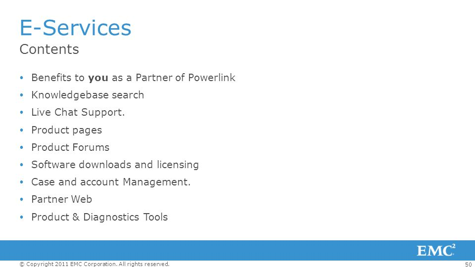 E-Services Contents Benefits to you as a Partner of Powerlink