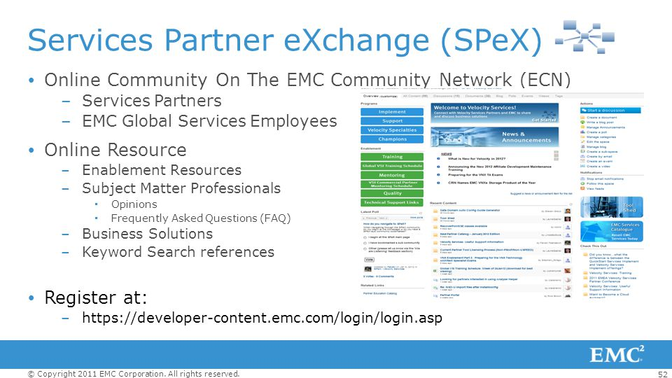 Services Partner eXchange (SPeX)