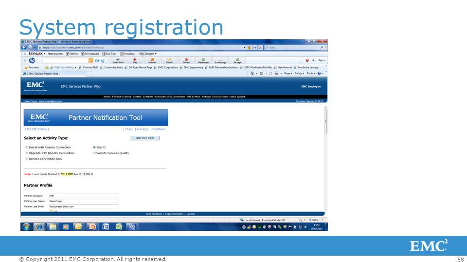System registration PNT Tool