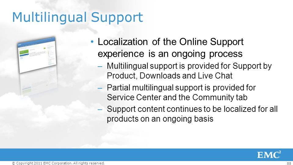 Multilingual Support Localization of the Online Support experience is an ongoing process.