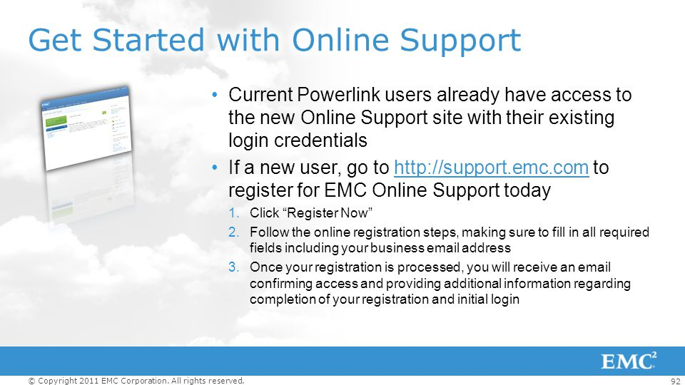 Get Started with Online Support