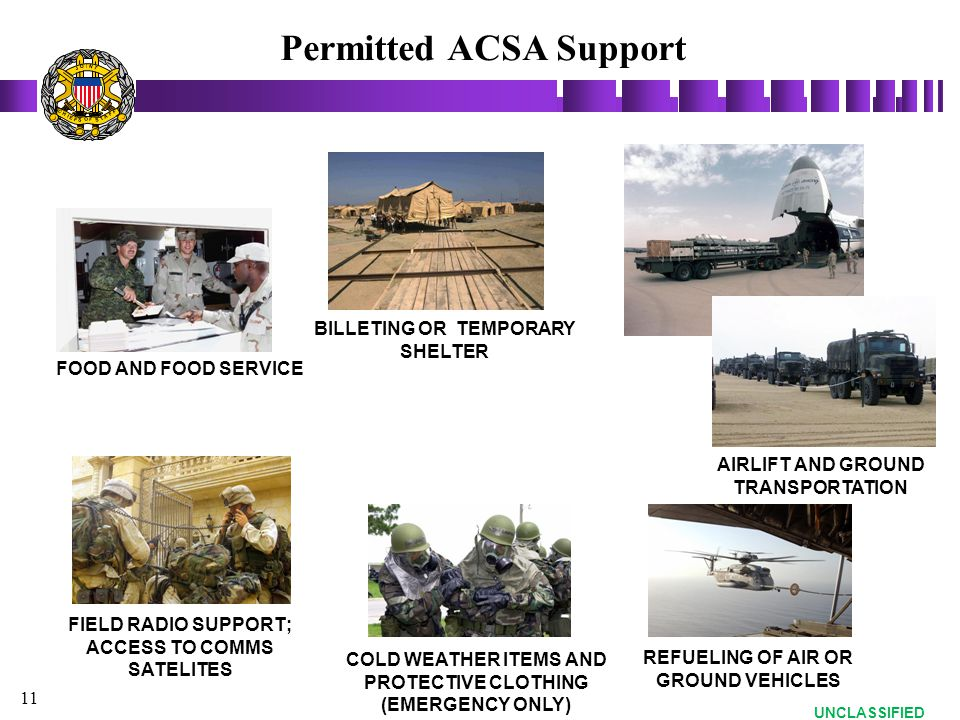 Permitted ACSA Support