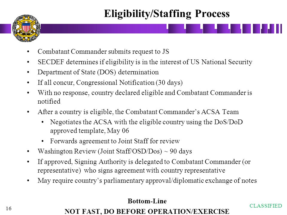 Eligibility/Staffing Process
