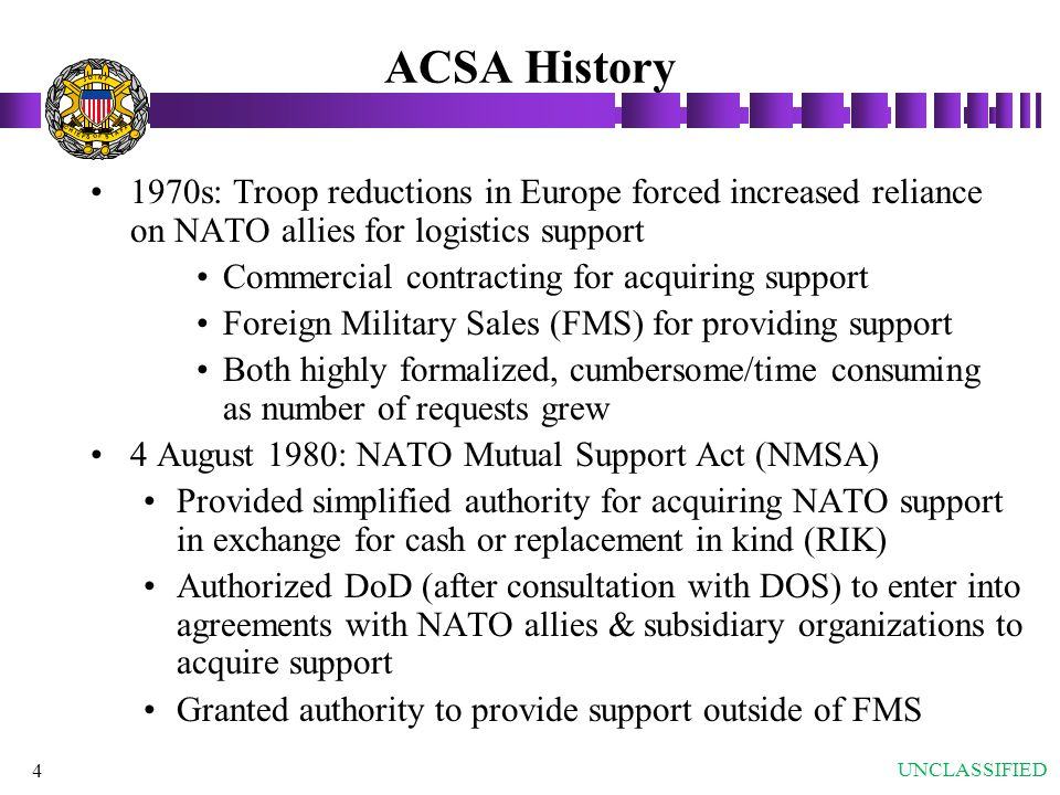 ACSA History J. O. T. N. I. S. A. F. C. H. E.