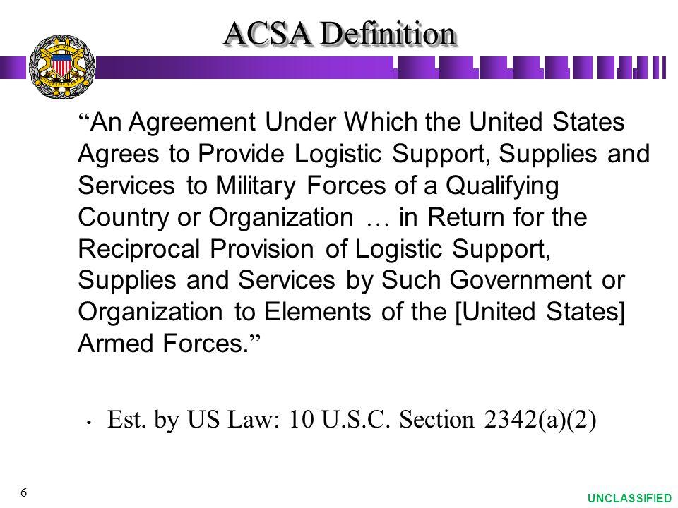 ACSA Definition J. O. T. N. I. S. A. F. C. H. E.