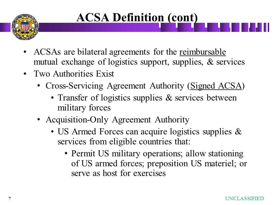 Acquisition and cross servicing agreements acsa ppt video online acsa definition cont platinumwayz