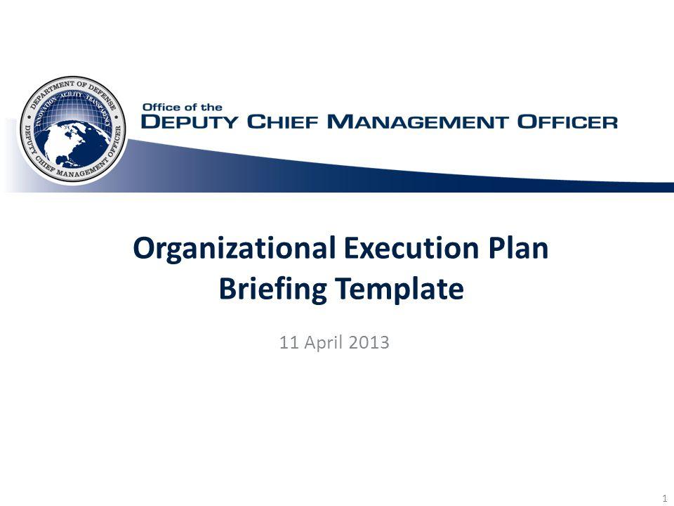 Organizational Execution Plan Briefing Template