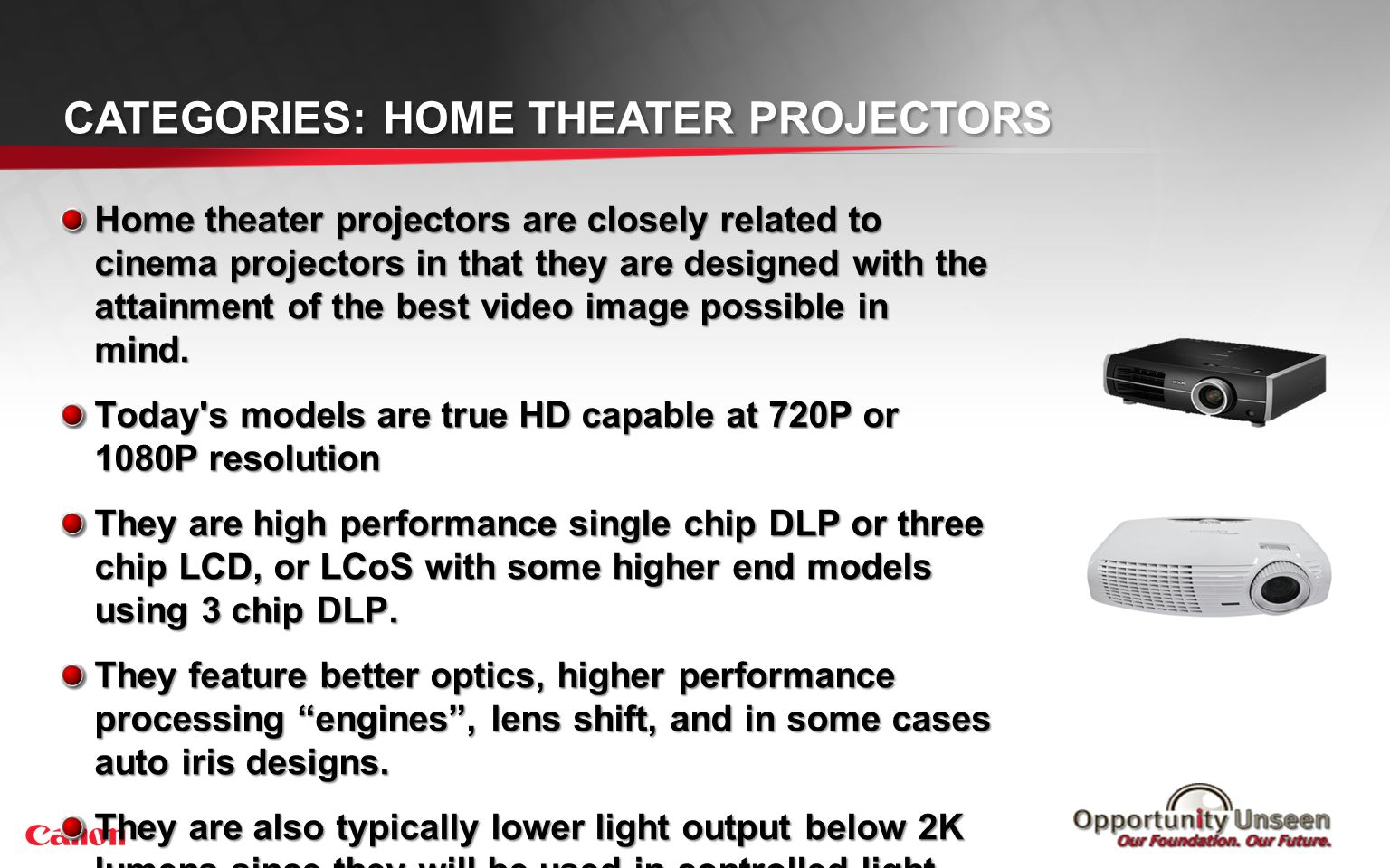 Categories: Cinema Projectors