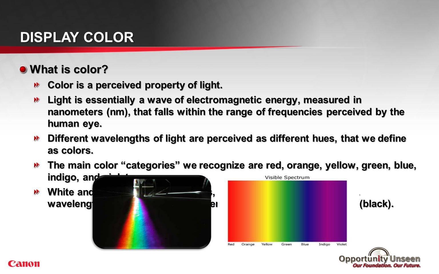 Display Color How does display color work