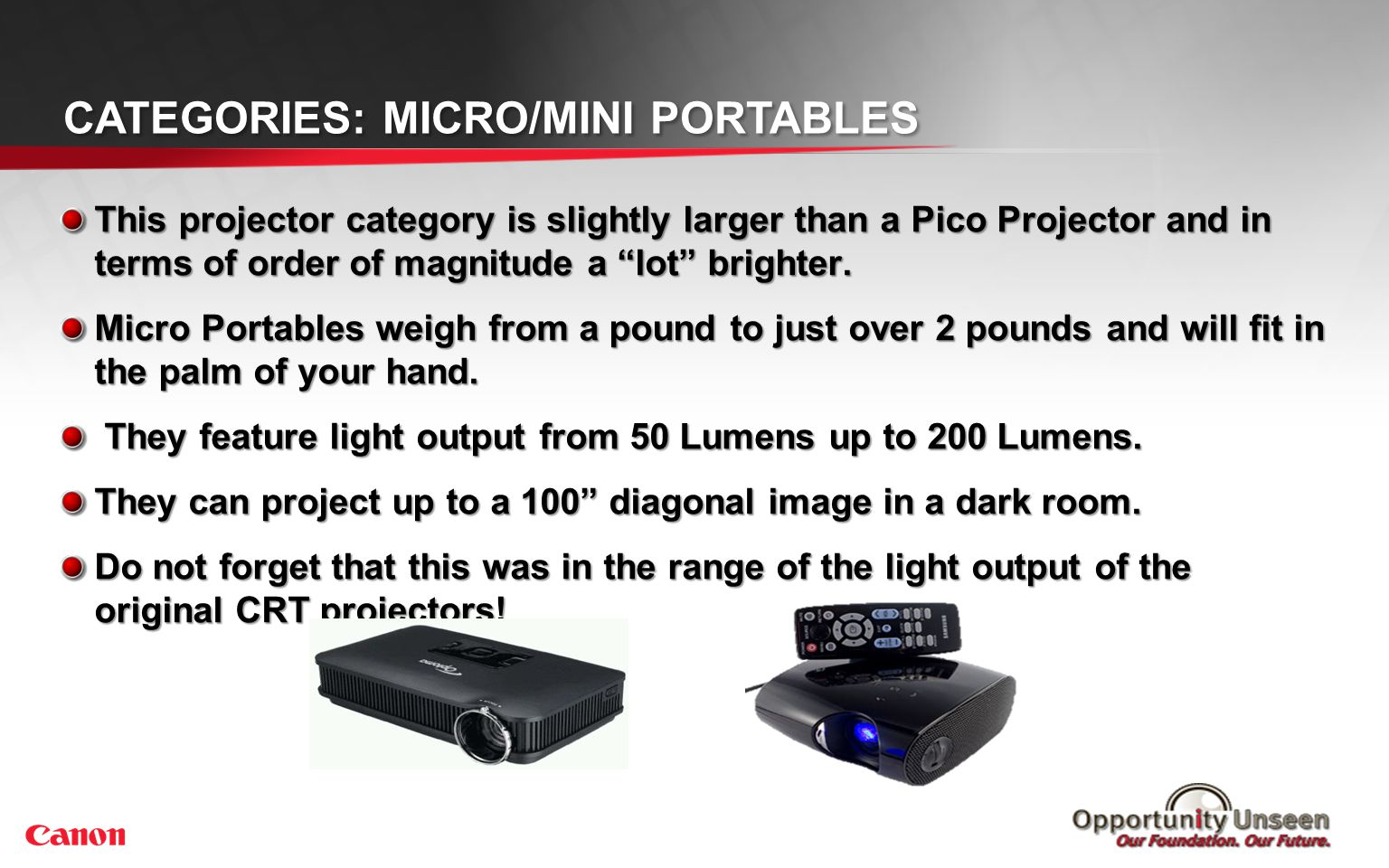 Categories: Ultra Portable Projectors