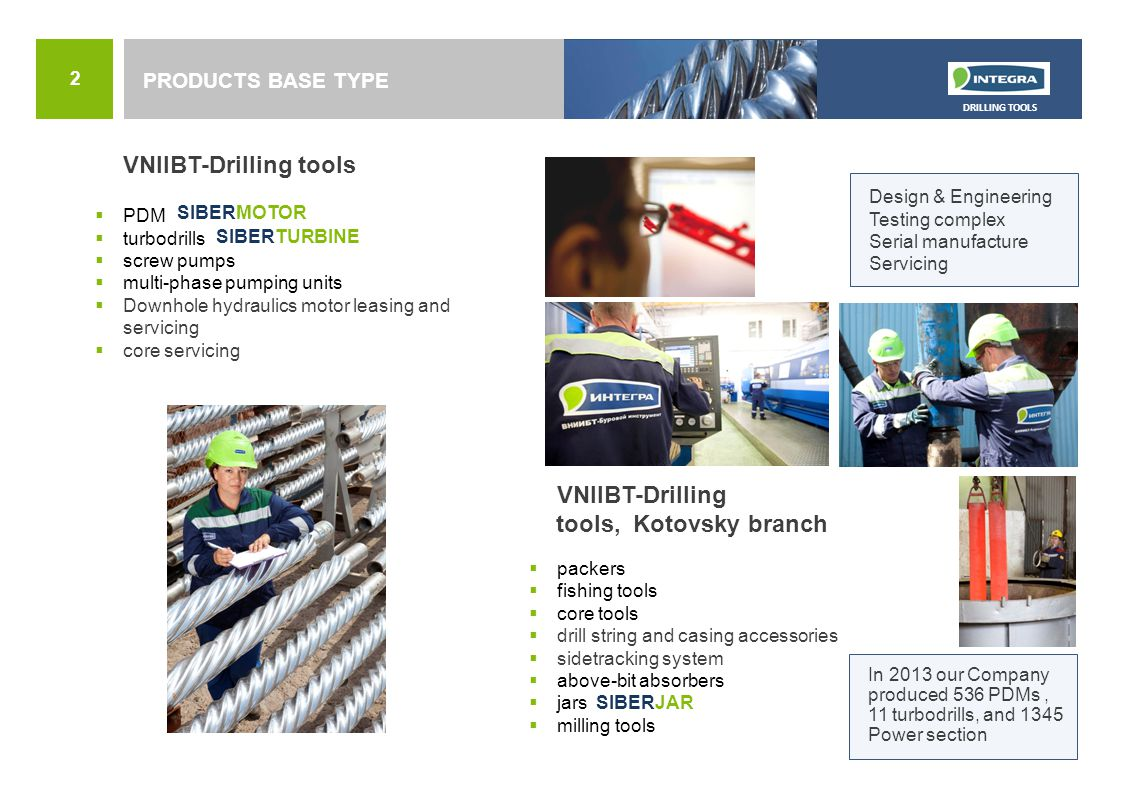 VNIIBT-Drilling tools