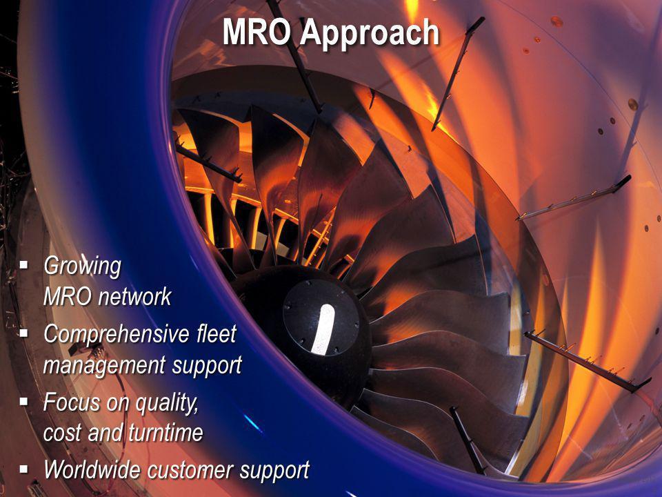 MRO Approach Growing MRO network