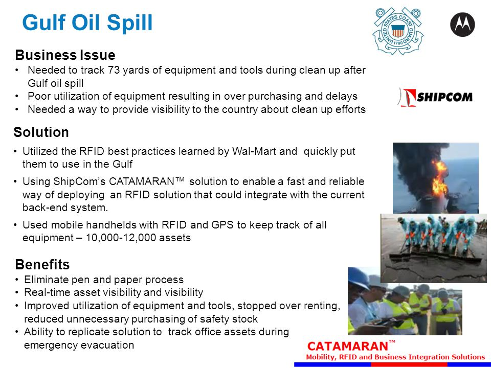 Gulf Oil Spill Business Issue Solution Benefits Partner