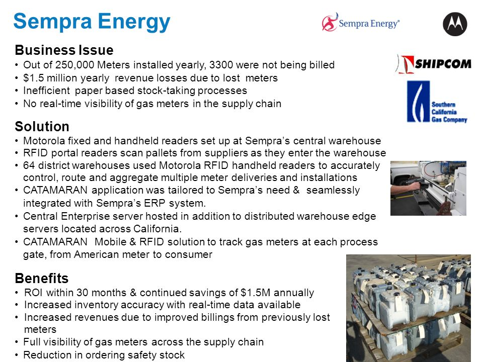 Sempra Energy Business Issue Solution Benefits
