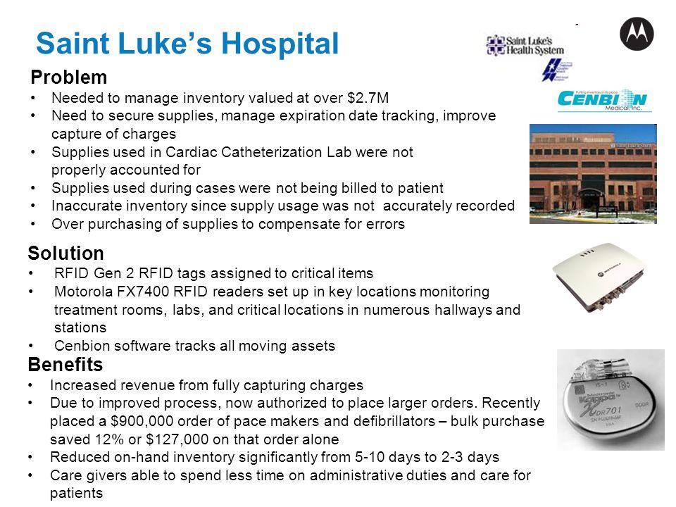 Saint Luke's Hospital Problem Solution Benefits