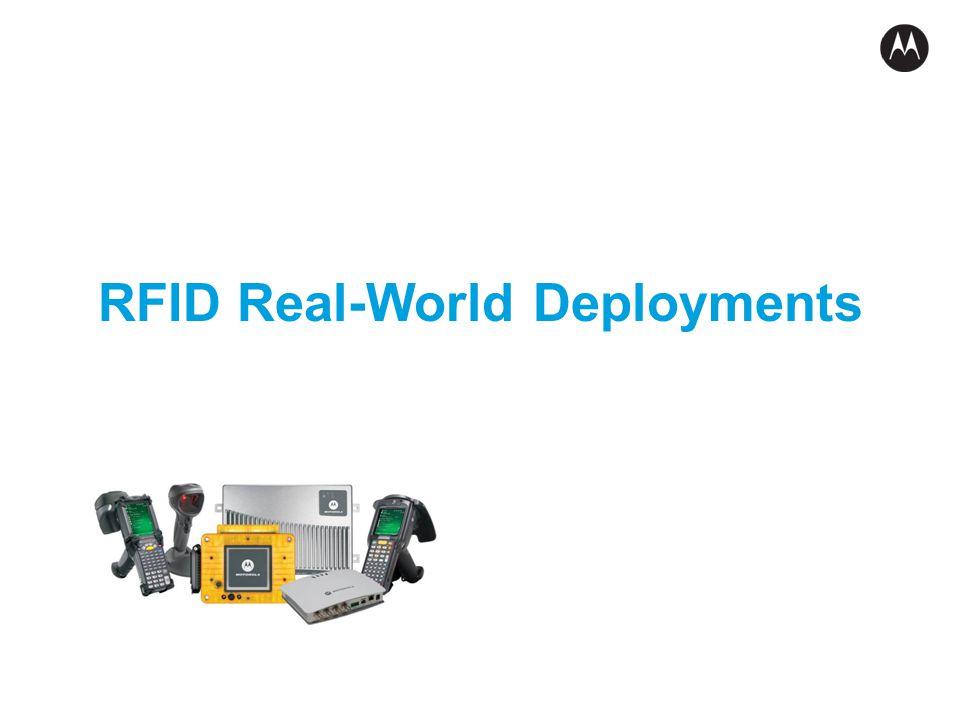 RFID Real-World Deployments