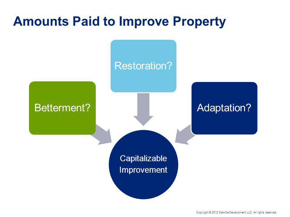 Amounts Paid to Improve Property