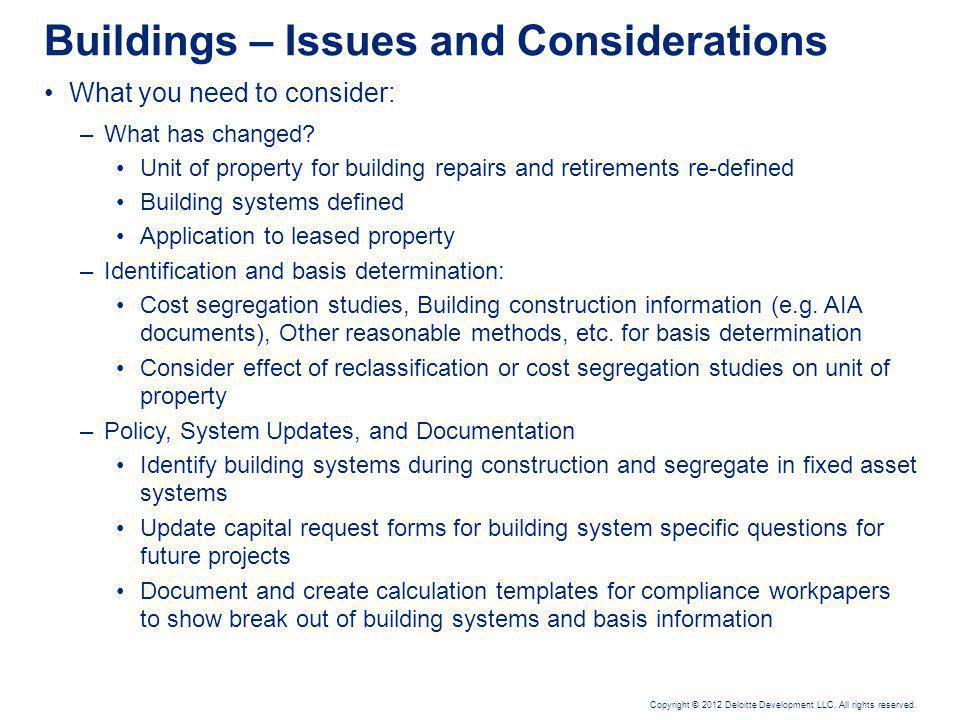 Dispositions, Retirements & General Asset Accounts (Temp. Reg. §§ 1