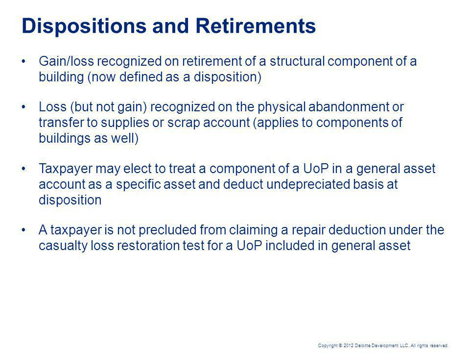 General Asset Accounts (GAA)