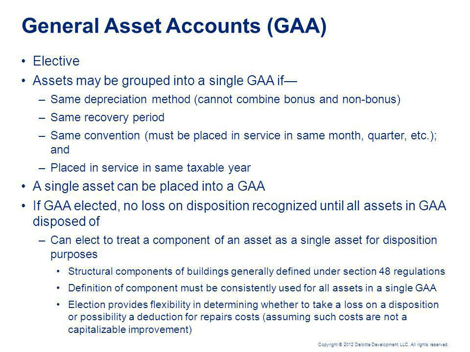 Retirements, Dispositions & General Asset Accounts – Issues and Considerations