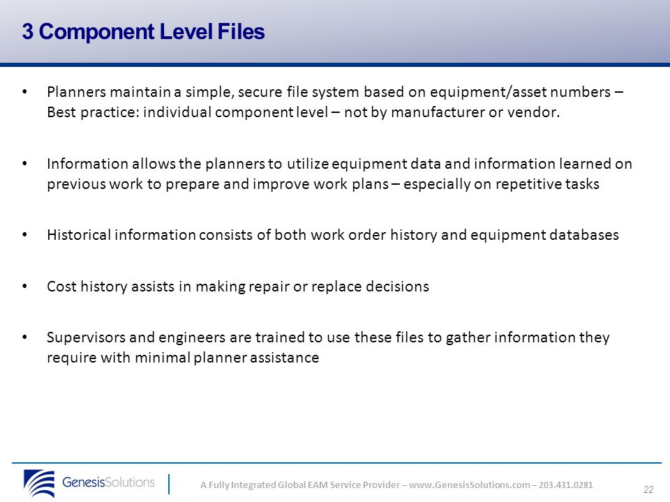 3 Component Level Files