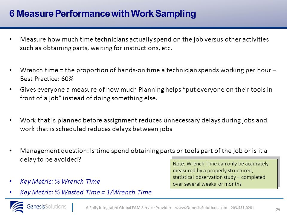 6 Measure Performance with Work Sampling