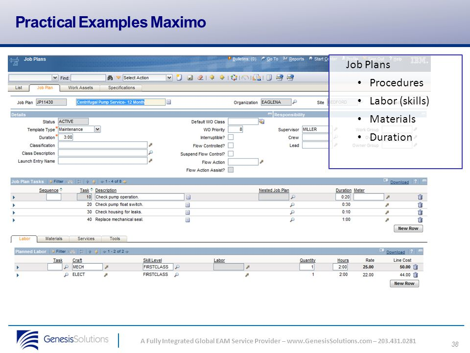 Practical Examples Maximo