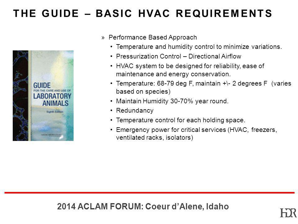 The Guide – Basic HVAC Requirements
