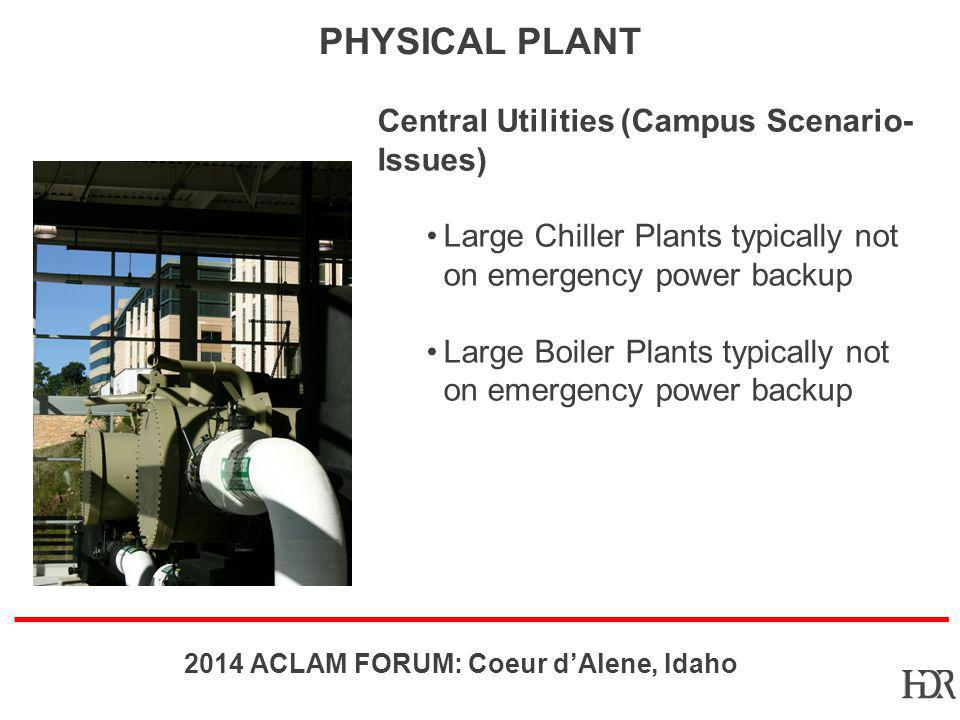 Physical Plant Central Utilities (Campus Scenario- Issues)