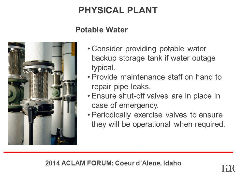 Physical Plant Potable Water