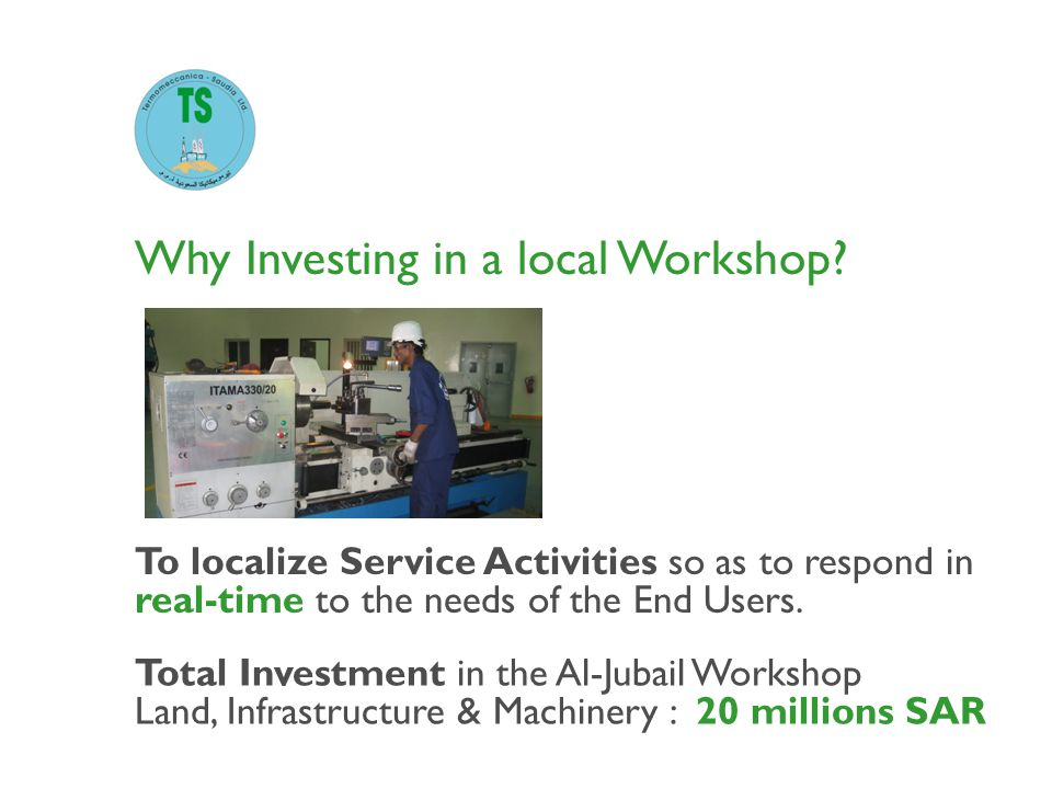 Why Investing in a local Workshop